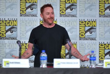 "SAN DIEGO, CALIFORNIA - JULY 20: Scott Grimes speaks at ""The Orville"" Panel during 2019 Comic-Con International at San Diego Convention Center on July 20, 2019 in San Diego, California. (Photo by Amy Sussman/Getty Images)"