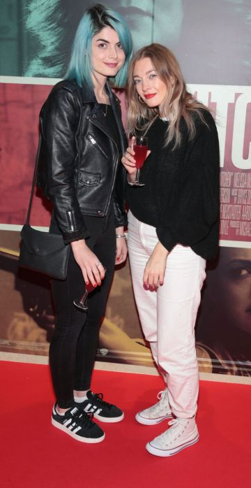 Beibhinn Jones and Hannah Osborne at the special preview screening of The Kitchen at Cineworld, Dublin.  Picture: Brian McEvoy