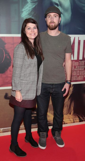 Eoin Martin and Rita McDonnell at the special preview screening of The Kitchen at Cineworld, Dublin.  Picture: Brian McEvoy