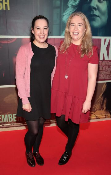 Aideen O Neill and Lisa McGrath at the special preview screening of The Kitchen at Cineworld, Dublin.  Picture: Brian McEvoy