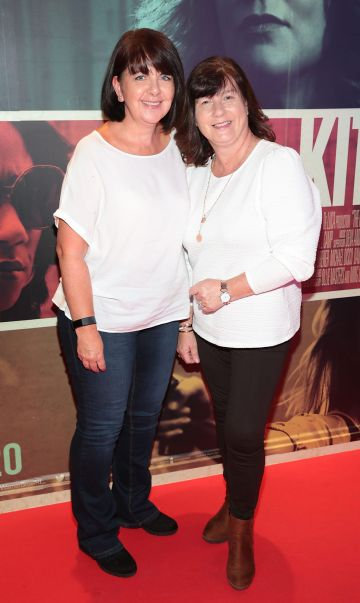 Linda Hackett and Susan McCann at the special preview screening of The Kitchen at Cineworld, Dublin.  Picture: Brian McEvoy