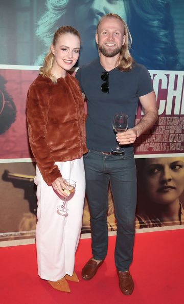 Emer Sexton and Dmitry Vinokurov at the special preview screening of The Kitchen at Cineworld, Dublin.  Picture: Brian McEvoy