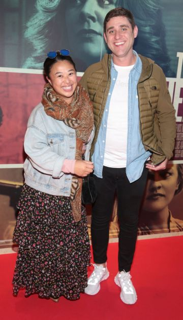 Judy Wong and Michael Foley at the special preview screening of The Kitchen at Cineworld, Dublin.  Picture: Brian McEvoy