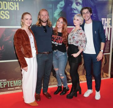 Emer Sexton,Dmitry Vinokurov,Sorcha Herlihy ,Sara Berger and Vincent O Beirne at the special preview screening of The Kitchen at Cineworld, Dublin.  Picture: Brian McEvoy