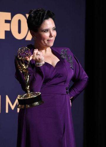 Outstanding Supporting Actress In A Comedy Series actress Alex Borstein poses with her award during the 71st Emmy Awards at the Microsoft Theatre in Los Angeles on September 22, 20 (Photo by Robyn Beck/Getty Images)