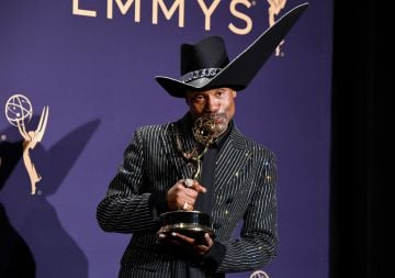 Billy Porter poses with award for Outstanding Lead Actor in a Drama Series in the press room during the 71st Emmy Awards at Microsoft Theater on September 22, 2019 in Los Angeles, California. (Photo by Frazer Harrison/Getty Images)
