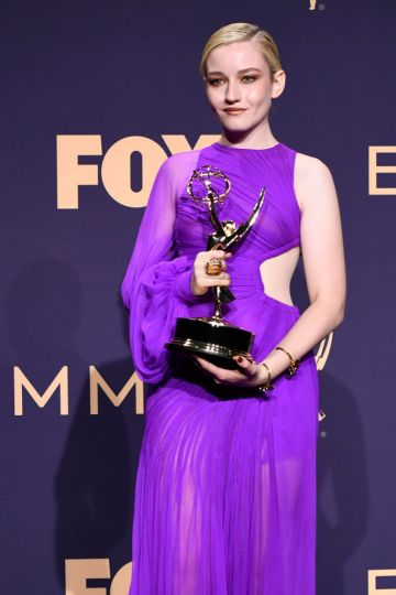 Julia Garner, winner of the Outstanding Supporting Actress in a Drama Series award for 'Ozark,' poses in the press room during the 71st Emmy Awards at Microsoft Theater on September 22, 2019 in Los Angeles, California. (Photo by Frazer Harrison/Getty Images)