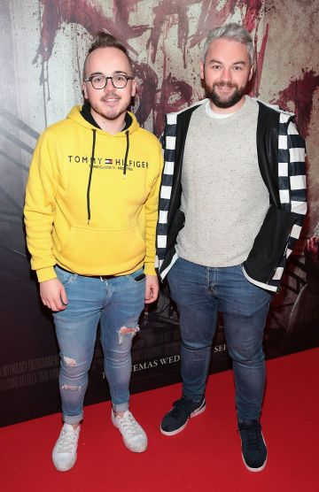 Paul Carlyle and Michel Ryan pictured at the special preview screening of Ready or Not at the Lighthouse Cinema, Dublin. Pic: Brian McEvoy