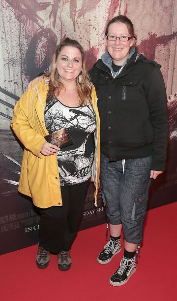 Tracy Cummins and Alison Cosgrave pictured at the special preview screening of Ready or Not at the Lighthouse Cinema, Dublin. Pic: Brian McEvoy
