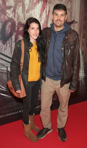 Jane Wade and Oisin Baget pictured at the special preview screening of Ready or Not at the Lighthouse Cinema, Dublin. Pic: Brian McEvoy