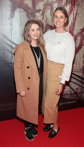 Ella McGinley and Emily Gill pictured at the special preview screening of Ready or Not at the Lighthouse Cinema, Dublin. Pic: Brian McEvoy