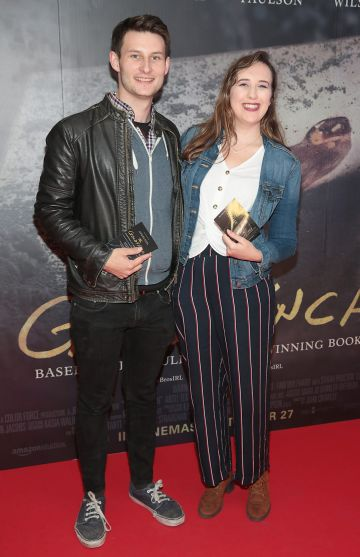 Ciaran Busby and Molly Wade pictured at the Irish Premiere screening of The Goldfinch at the Lighthouse Cinema, Dublin.  Picture: Brian McEvoy.