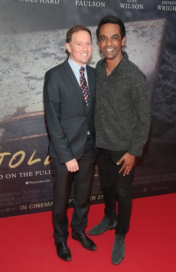 David Mitchell and Clint Drieberg pictured at the Irish Premiere screening of The Goldfinch at the Lighthouse Cinema, Dublin.  Picture: Brian McEvoy.