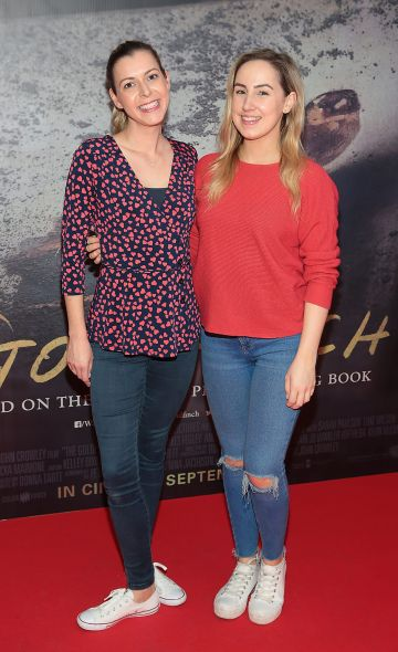 Lorna Young ang Sarah O Toole pictured at the Irish Premiere screening of The Goldfinch at the Lighthouse Cinema, Dublin.  Picture: Brian McEvoy.