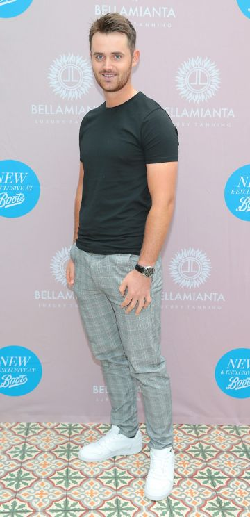 Conor O Rourke at the Bellamianta Tan Glow Gorgeous Gift Set launch with Boots at House, Dublin.   Pic: Brian McEvoy.