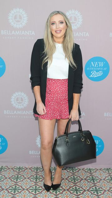AJ Fitzsimons at the Bellamianta Tan Glow Gorgeous Gift Set launch with Boots at House, Dublin.   Pic: Brian McEvoy.