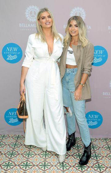 Ashley Kehoe and Claudine Kehoe at the Bellamianta Tan Glow Gorgeous Gift Set launch with Boots at House, Dublin.   Pic: Brian McEvoy.
