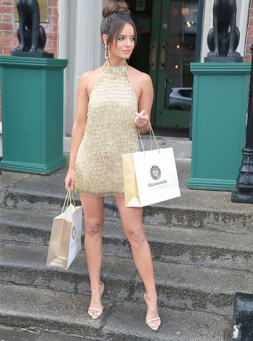 Maura Higgins at the Bellamianta Tan Glow Gorgeous Gift Set launch with Boots at House, Dublin.   Pic: Brian McEvoy.