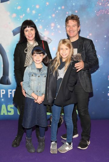 Fiona Breslin, Harry McGee, Lucy McGuire and Sadhbh McGee at the special preview screening of Shaun the Sheep at the Odeon Cinema In Point Square, Dublin.  Pic: Brian McEvoy Photography