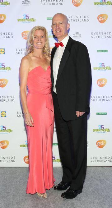Jill Walker and Ciaran Walker  at the Barretstown 25th Anniversary Gala Ball at the RDS, Basllsbridge, Dublin.  Pic: Brian McEvoy Photography