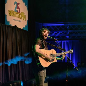 Danny O'Reilly from The Coronas performs at the Barretstown 25th Anniversary Gala Ball at the RDS, Ballsbridge, Dublin.  Pictures: Cathal Mac an Bheatha