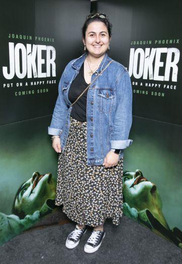 Ilgin Turkoz at the special 70mm screening of Todd Phillips Joker at the IFI Dublin. Pic: Brian McEvoy Photography