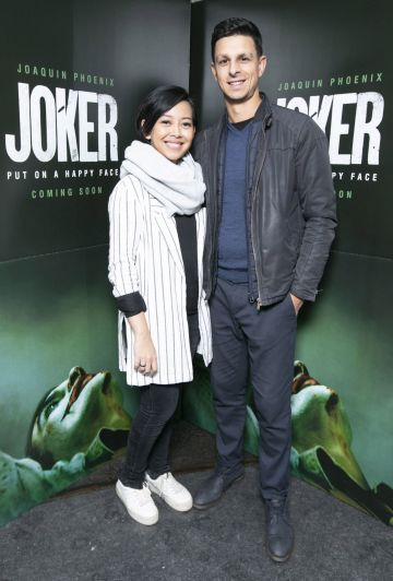 Achi Hardjakusumah and Stefan French at the special 70mm screening of Todd Phillips Joker at the IFI Dublin. Pic: Brian McEvoy Photography