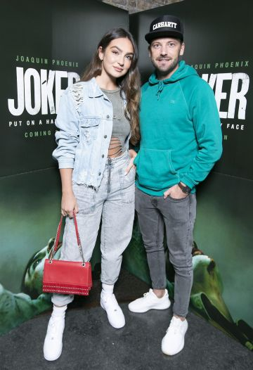 Shauna Lindsay and Stephen McCann at the special 70mm screening of Todd Phillips Joker at the IFI Dublin. Pic: Brian McEvoy Photography