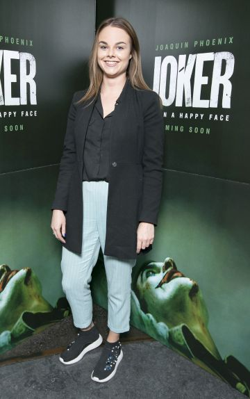 Laura Kunkels at the special 70mm screening of Todd Phillips Joker at the IFI Dublin. Pic: Brian McEvoy Photography