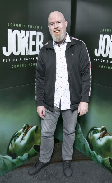 Edwin Sammon at the special 70mm screening of Todd Phillips Joker at the IFI Dublin. Pic: Brian McEvoy Photography