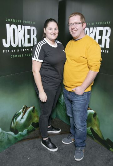 Amanda Duffy and Niall McDonnell at the special 70mm screening of Todd Phillips Joker at the IFI Dublin. Pic: Brian McEvoy Photography
