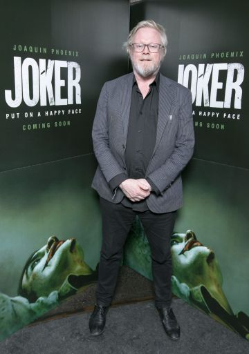 Kevin Gildea at the special 70mm screening of Todd Phillips Joker at the IFI Dublin. Pic: Brian McEvoy Photography