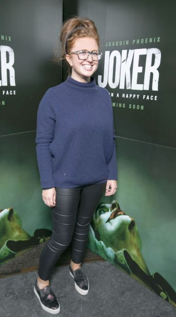 Naomi Anderson at the special 70mm screening of Todd Phillips Joker at the IFI Dublin. Pic: Brian McEvoy Photography