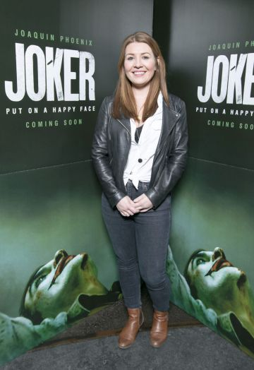 Ruth Reilly at the special 70mm screening of Todd Phillips Joker at the IFI Dublin. Pic: Brian McEvoy Photography