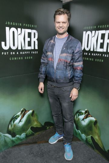 Johan Hallstrom at the special 70mm screening of Todd Phillips Joker at the IFI Dublin. Pic: Brian McEvoy Photography