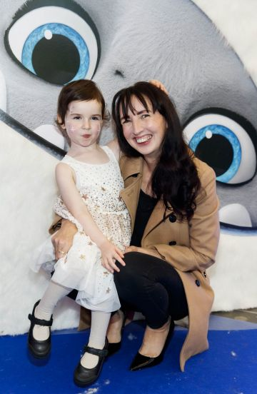 Clodagh Kenny and daughter Caia (4) pictured at a special preview screening of DreamWorks Animation ABOMINABLE at Odeon Point Square, Dublin. Picture Andres Poveda