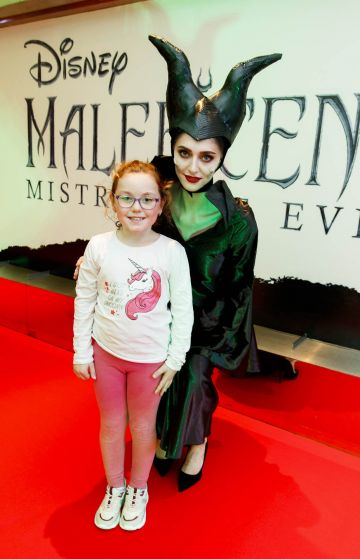 """Bela O'Connell (8) from Drimnagh pictured a the special preview screening of Disney's """"Maleficent: Mistress of Evil' at the Light House Cinema, Dublin. Picture: Andres Poveda"""