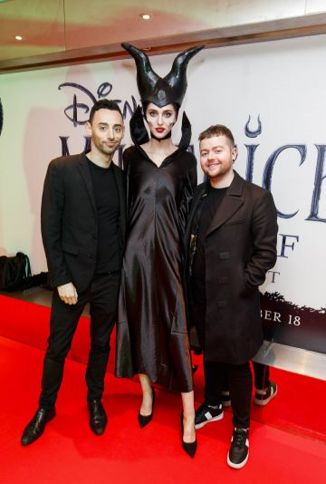 """John Bowes and Aidan Darcy from Brown Sugar pictured a the special preview screening of Disney's """"Maleficent: Mistress of Evil' at the Light House Cinema, Dublin. Picture: Andres Poveda"""