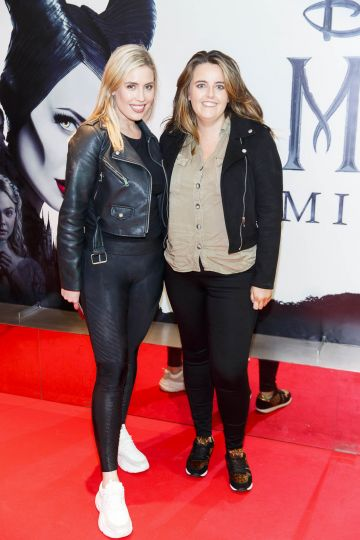 """Emma Power and Katie Power pictured a the special preview screening of Disney's """"Maleficent: Mistress of Evil' at the Light House Cinema, Dublin. Picture: Andres Poveda"""