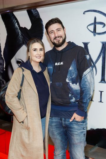 """Etaoin Corr and Jason Boland pictured a the special preview screening of Disney's """"Maleficent: Mistress of Evil' at the Light House Cinema, Dublin. Picture: Andres Poveda"""