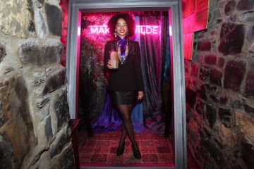 Jeanne Ni Ainle pictured at the exclusive global launch of Wilde Irish Gin at The Cellar Bar. Photograph: Leon Farrell / Photocall Ireland