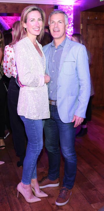 Yvonne and Paul Melinn pictured at the exclusive global launch of Wilde Irish Gin at The Cellar Bar last night. Photograph: Leon Farrell / Photocall Ireland