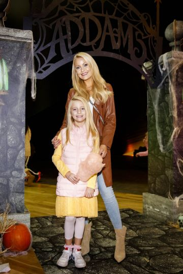 Kerri-Nicole Blanc and daughter Kayla pictured at a special preview screening of The Addams Family at the Light House Cinema, Dublin.  Picture: Andres Poveda