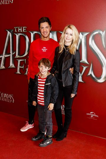 Thierry, Valerie and Luca Hengst (8) pictured at a special preview screening of The Addams Family at the Light House Cinema, Dublin.  Picture: Andres Poveda