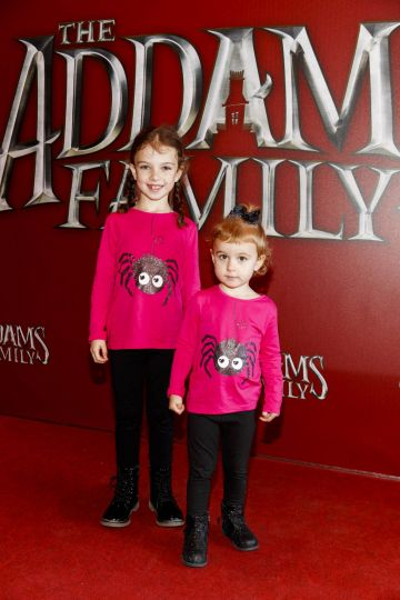 Sally (6) and Robyn McGowan (2) pictured at a special preview screening of The Addams Family at the Light House Cinema, Dublin.  Picture: Andres Poveda