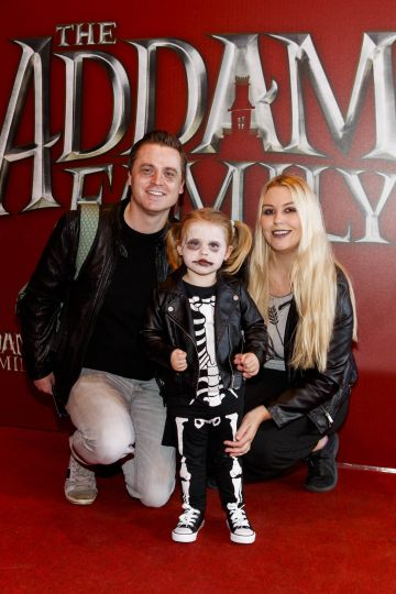 Vic,Willow (2) and  Lyndsey, Reid pictured at a special preview screening of The Addams Family at the Light House Cinema, Dublin.  Picture: Andres Poveda