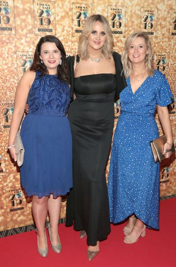 Therese Anglim Emma Lyons and Niki King pictured at the Irish Cinema Ball 2019 in aid of the Irish Cinematograph Trade Benevolent Fund (ICTBF ) at The Shelbourne Hotel, Dublin This year's theme was the iconic 'Studio 54'. Pic: Brian McEvoy.