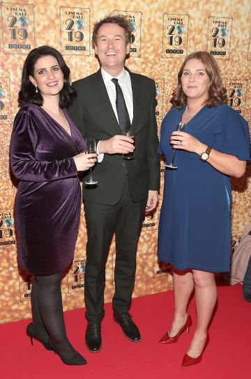 Tracey O Brien, David Reid and Margaret Greene pictured at the Irish Cinema Ball 2019 in aid of the Irish Cinematograph Trade Benevolent Fund (ICTBF ) at The Shelbourne Hotel, Dublin This year's theme was the iconic 'Studio 54'. Pic: Brian McEvoy.