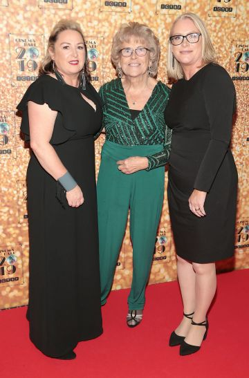 Siobhan Farrell, Pat Kearns and Claire Dunlop  pictured at the Irish Cinema Ball 2019 in aid of the Irish Cinematograph Trade Benevolent Fund (ICTBF ) at The Shelbourne Hotel, Dublin This year's theme was the iconic 'Studio 54'. Pic: Brian McEvoy.