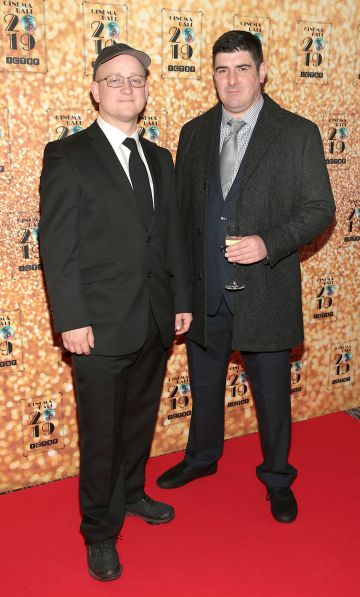 Jeffrey O Riordan and Rob Ryan pictured at the Irish Cinema Ball 2019 in aid of the Irish Cinematograph Trade Benevolent Fund (ICTBF ) at The Shelbourne Hotel, Dublin This year's theme was the iconic 'Studio 54'. Pic: Brian McEvoy.